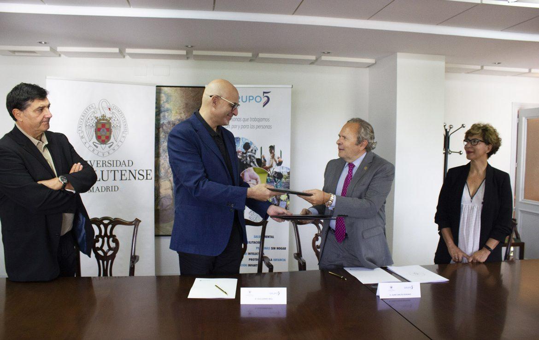 Grupo 5 firma un convenio con la Universidad Complutense de Madrid para crear la Cátedra 'Grupo 5 contra el estigma'